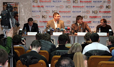 Смотрите фотогалерею Пресс-конференции в Днепропетровске накануне турнира