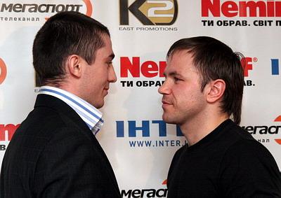 Смотрите фотогалерею Заурбек Байсангуров и Роман Джуман на пресс-конференции в Днепропетровске