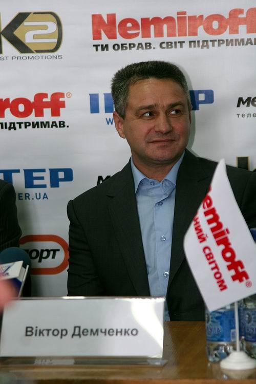 Смотрите фотогалерею Виктор Демченко на пресс-конференции в Черкассах перед боем Сергея Федченко с Хуаном Альберто Годоем