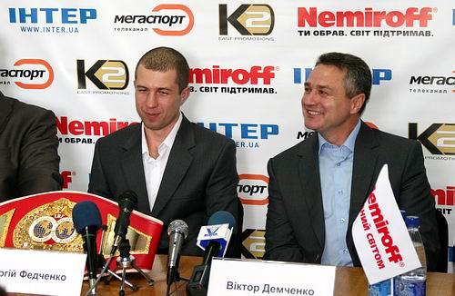 Смотрите фотогалерею Сергей Федченко и Виктор Демченко на пресс-конференции в Черкассах перед боем Сергея с Хуаном Альберто Годоем