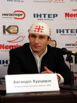 Смотрите фотогалерею Автандил Хурцидзе на пресс-конференции в Черкассах