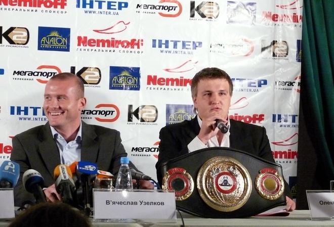 Смотрите фотогалерею Александр Красюк на пресс-конференции в Киеве перед турниром 21 октярбя во Дворце спорта