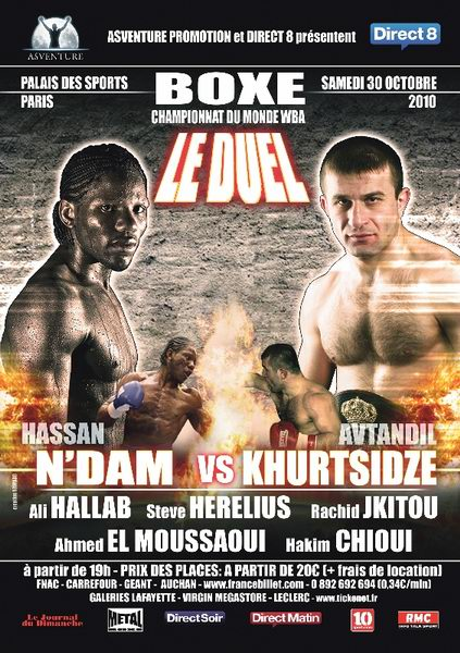 Hassan N`Dam N`Jikam vs Avtandil Khurtsidze