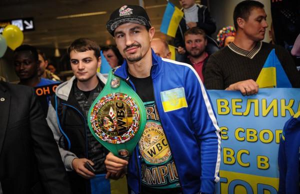 Торжественная встреча Виктора Постола в аэропорту Борисполь