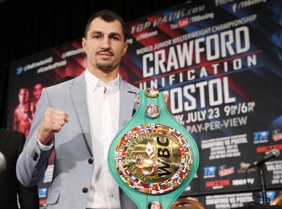 See gallery Viktor Postol at final press-conference before his clash with Terence Crawford